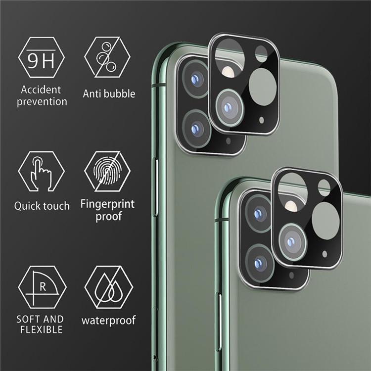 Perakende Kutusu ile Kamera Film temperli cam iPhone için 11 Pro Max Kamera Lens Ekran Koruyucu Titanyum Tam Kapak