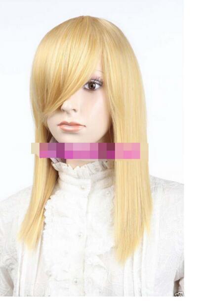 무료 배송 + + 새 가발 코스튬 금발 스트레이트 미디 여성 가발