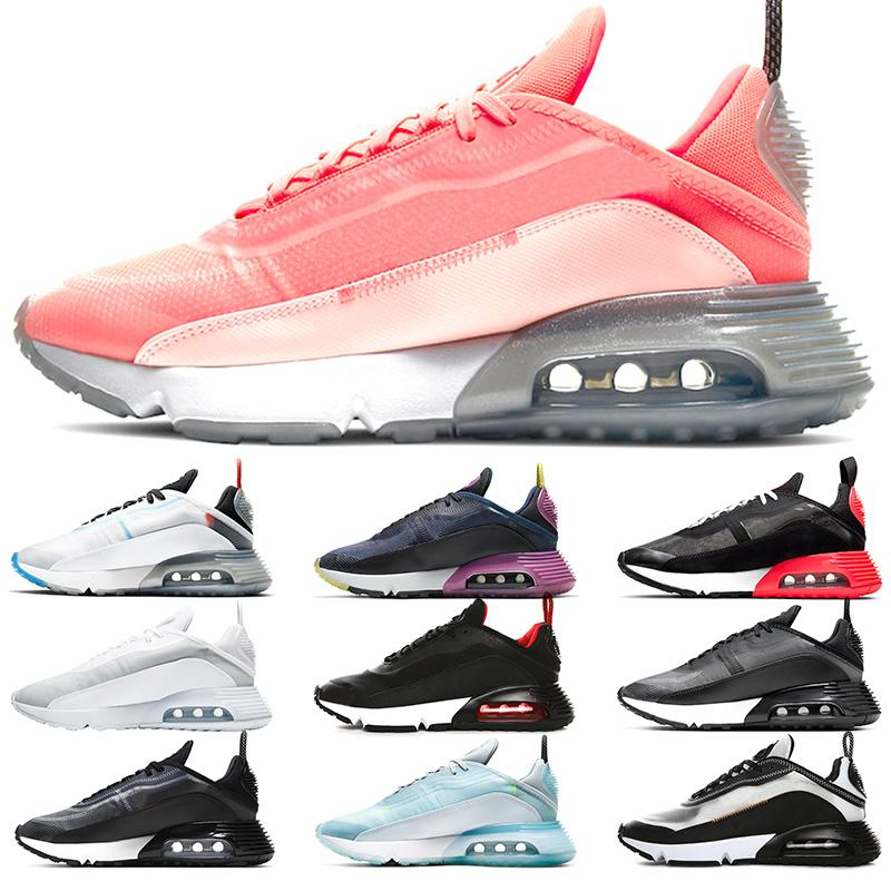 Nuevos 2090 zapatos corrientes de platino puro Hombres Mujeres zapatillas Pato Camo Bred Tamaño Triple Negro para hombre blancas Trainer Deportes 5,5-11