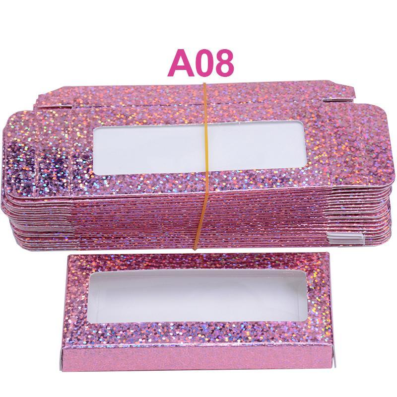 25mm 속눈썹 도매 대량의 저렴한 예쁜 속눈썹 저장 포장 상자를 포장 판지 종이