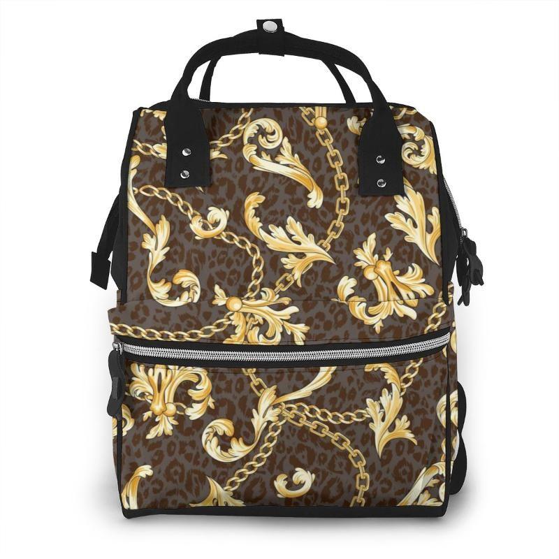 NOISYDESIGNS ليوبارد طباعة حقيبة الطفل على الأم حفاضات سلسلة نمط حقيبة الظهر السفر للماء الحفاض Bolso الأم عربة حقيبة