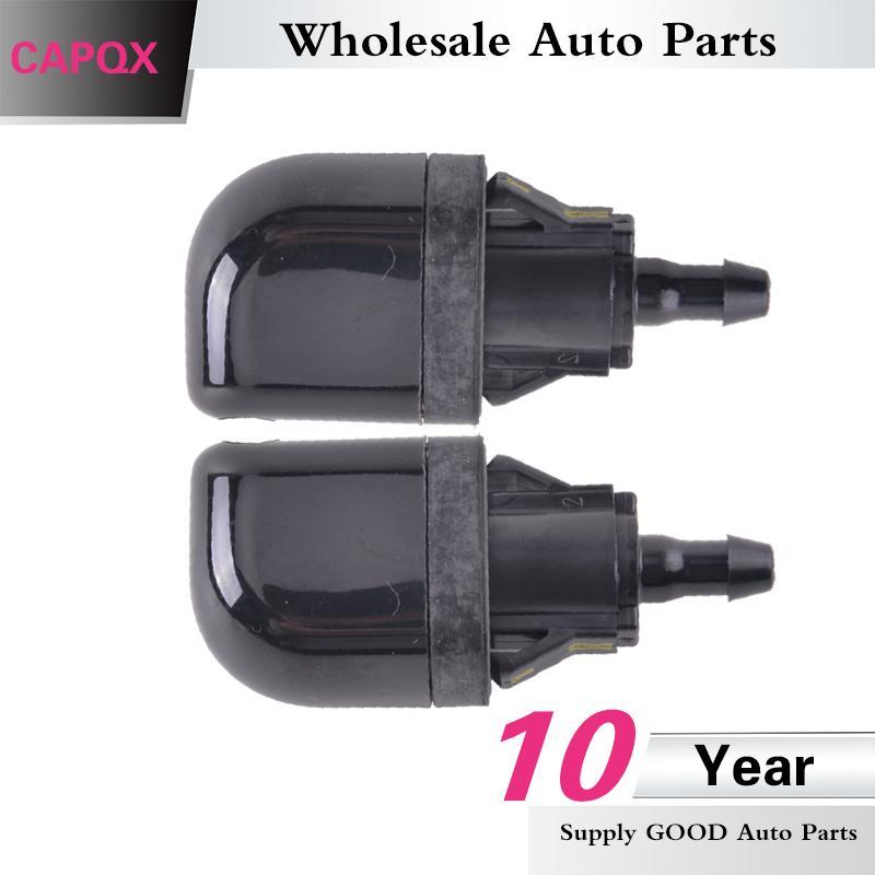 CAPQX 2PCS / lot Arka Cam Yıkayıcı Memesi Ön Cam Su Motoru İçin Land Cruiser Prado, LJ12 GX470 2002-2007 pompalı yıkayıcı