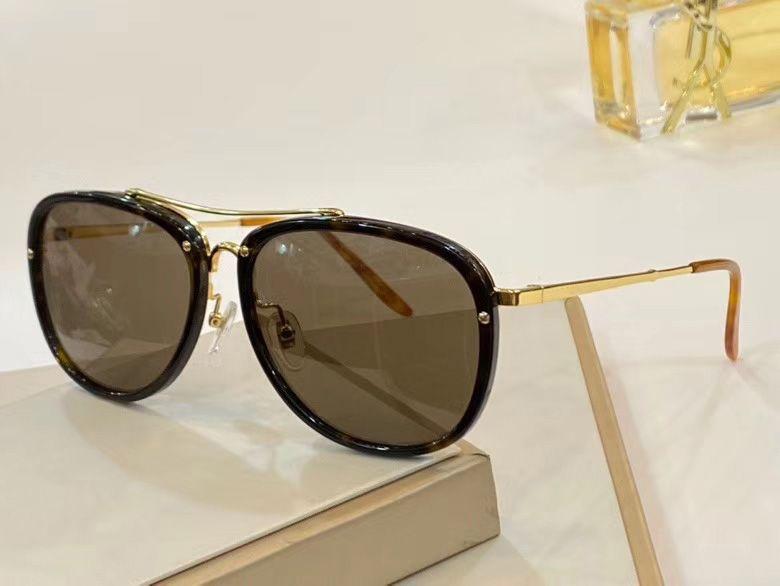 Ouro Preto Lens Brown Pilot Óculos de sol Óculos Sonnenbrill homens óculos de sol óculos nova com caixa