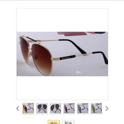 1pcs marca de diseño de lentes de sol verde Txrppr clásico piloto Gafas de sol del marco del oro Hombres Mujeres gafas UV400 lente de 62mm vienen cuadro de tom