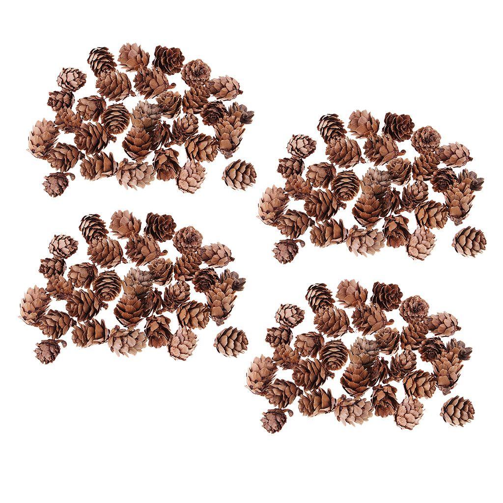120pcs 소박한 장식 된 pinecone 꽃병 볼 필러 디스플레이 테이블 장식