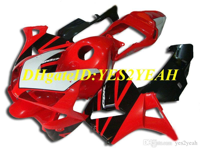 Kit carenatura moto per Honda CBR600RR 03 04 CBR 600RR F5 2003 2004 05 CBR600 ABS Hot rosso nero Set carenature + Regali HG50
