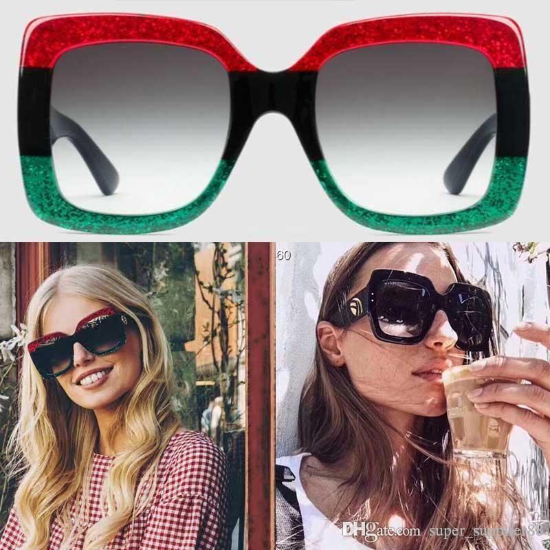Получить набор оригинальной коробке 0083 Модные солнцезащитные очки бренда квадратный полный стиль кадра женщин очки защиты покрытием УФ смешанный цвет 0083S