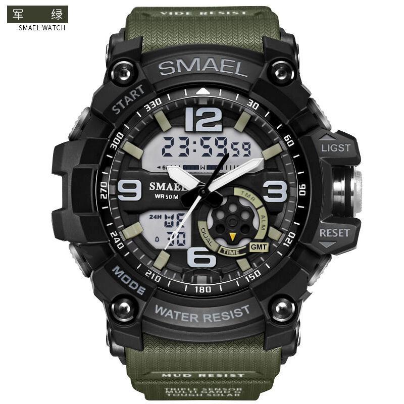 SMAEL SL1617 Relogio мужских спортивных часов, светодиодные хронограф наручного часы, военные часы, цифровые часы, хороший подарок для мужчин мальчика, десантный