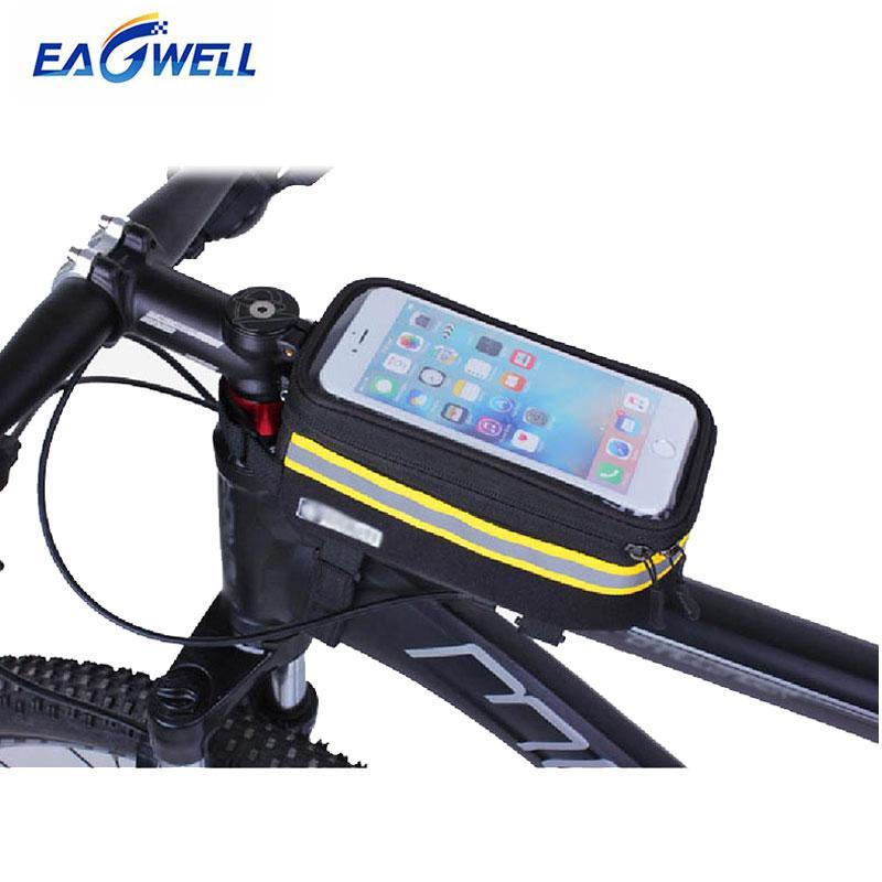 Custodia per telefono cellulare da bicicletta Custodia touch screen Custodia per cellulare con custodia rigida anteriore per iPhone Samsung 3.5-6 pollici