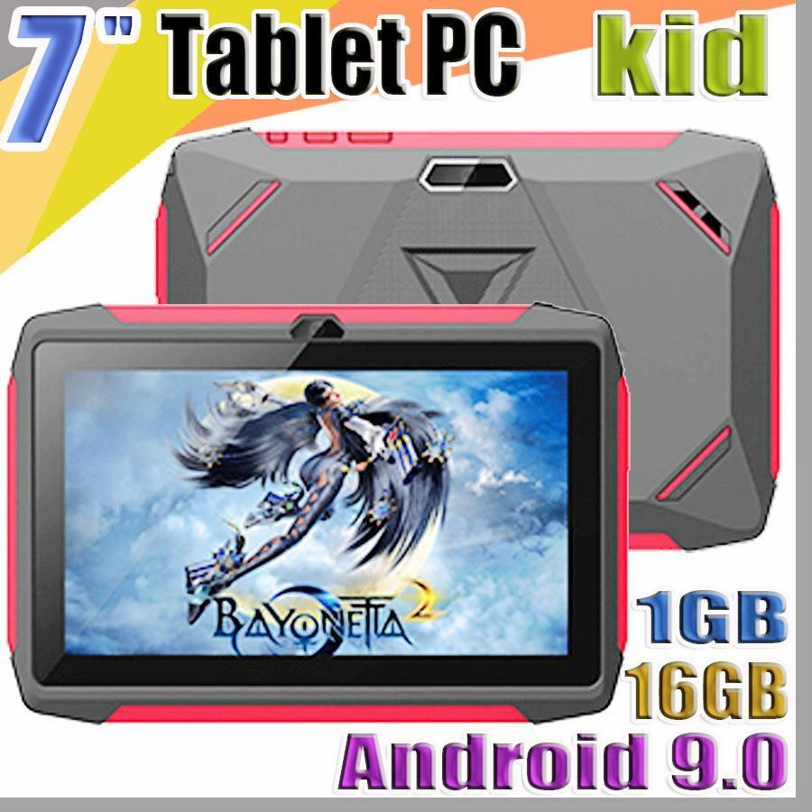 JT DHL طفل اللوحي Q98 رباعية النواة 7 بوصة 1024 * 600 HD شاشة الروبوت 9.0 AllWinner لA50 الحقيقي Q8 1GB RAM 16GB مع واي فاي بلوتوث