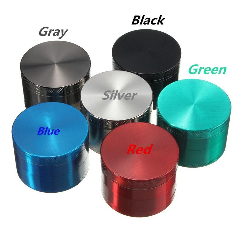 63MM Tabak-Kraut-Schleifer 4 Schichten Zink-Legierung Metall Herb Grinders 6 Farben Stock Großhandel