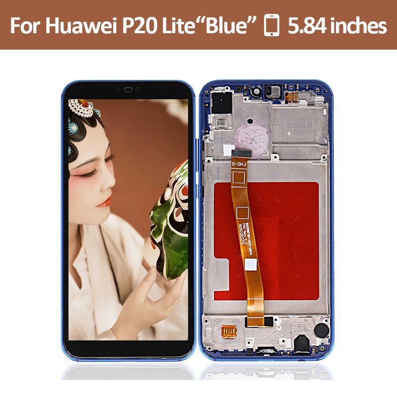 Nova 3E Black Sostituzione Assemblea Schermo LCD Display Digitizer Touch Screen di Riparazione per Huawei P20 Lite Ane-LX1 Ane-LX3