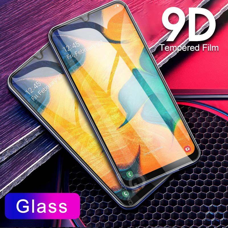 9D منحني زجاج المقسى للحصول على سامسونج غالاكسي A30 A50 A10 حامي الشاشة لسامسونج M10 M20 M30 M40 A40 A60 A70 A80 A90