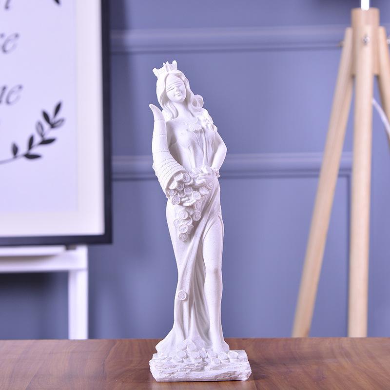 Regalo de boda Decoración abstracta diosa fortuna escultura estatuas ornamento hecho a mano de la piedra arenisca por escultura del arte de la sala