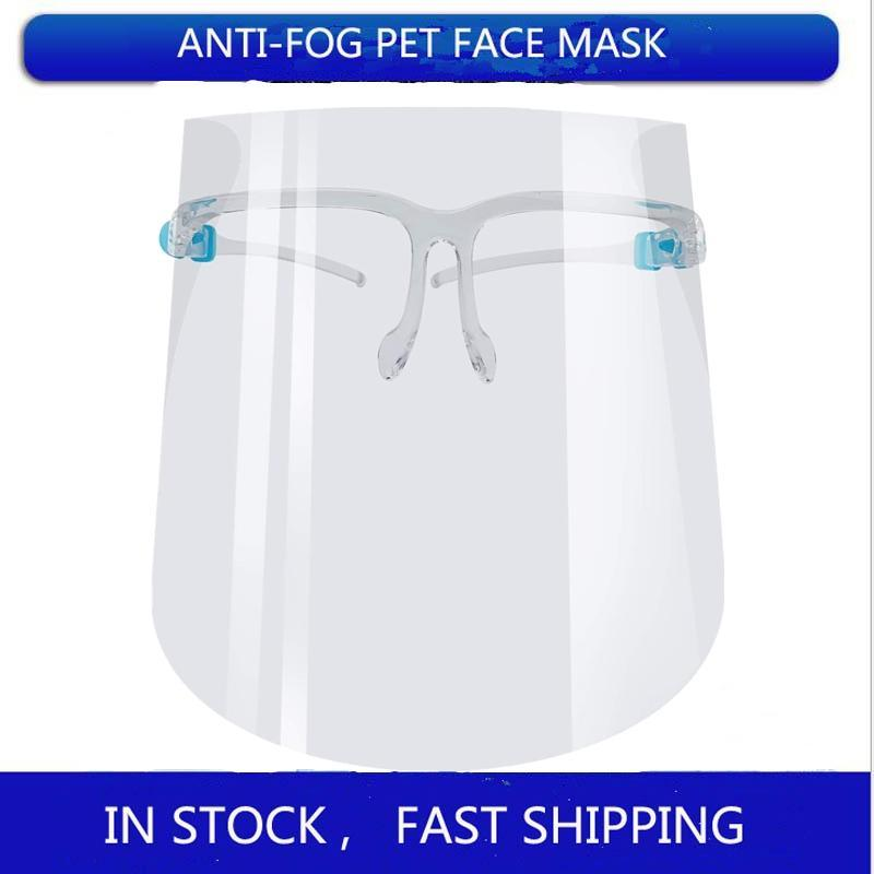 DHL Free Shipping PET Protective Face Shield Full Face Isolation Mask Transparent Anti-Fog Mask Visor Protective Face Shields FY8038