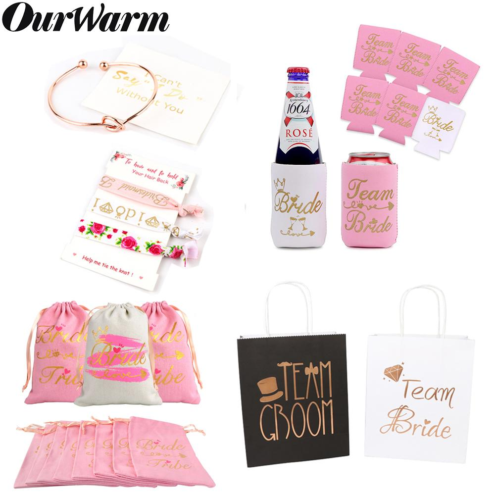 OurWarm Bridesmaid Gift Can Bridal Shower Favors Cooler Sleeves Hangover Kit Gift Bags Hen Night Bachelorette Party Supplies