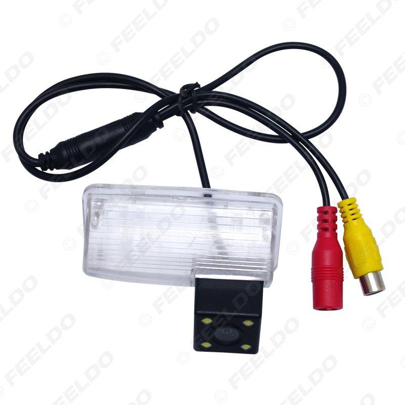 Park Kamera # 4103 Geri vites Toyota Corolla E120 / E130 / Reiz (~ 2012 2010) / Vios için LED ışık ile Araç Geri Görüş Kamerası (03 ~ 08)