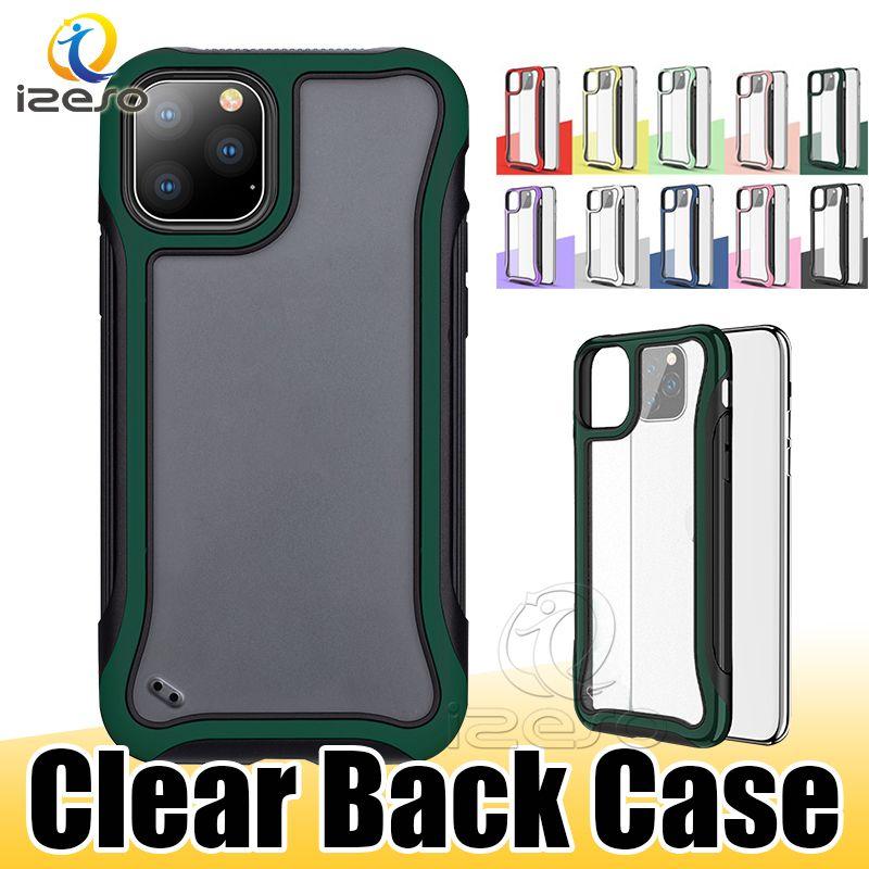 Per iPhone 12 11 Pro Max XR XS 8 Samsung Note 20 Ultra S10 A51 Telefono cassa della caramella chiaro vantaggio copertura posteriore izeso