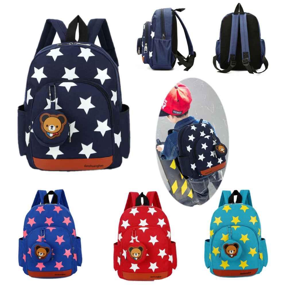 Garçons Filles Étoile Cartoon Sac à dos école sac enfants Kindergarten enfants Rucksack sac à dos Bookbag Satchel Sacs à bandoulière