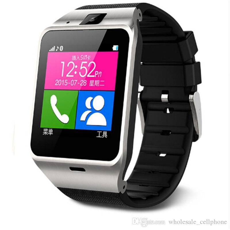 GV18 الذكية ووتش بلوتوث Passometer للياقة البدنية المقتفي الذكية ساعة اليد مع بطاقة SIM فتحة الكاميرا سوار الذكية لIOS الروبوت فون ووتش