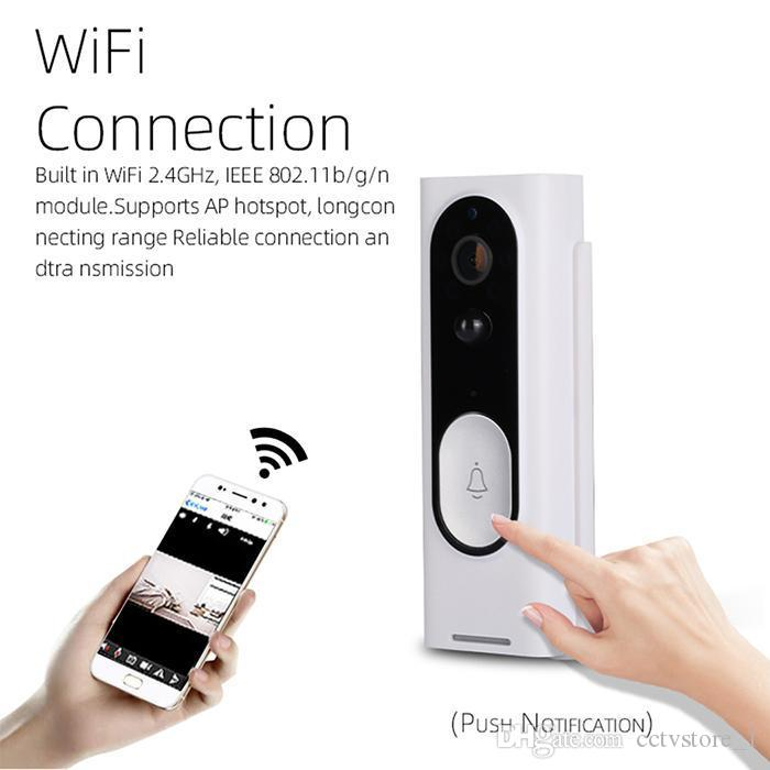 New WiFi Video Doorbell 1080P HD Wireless Security Camera with PIR Motion Detection For IOS Android Phone APP Control
