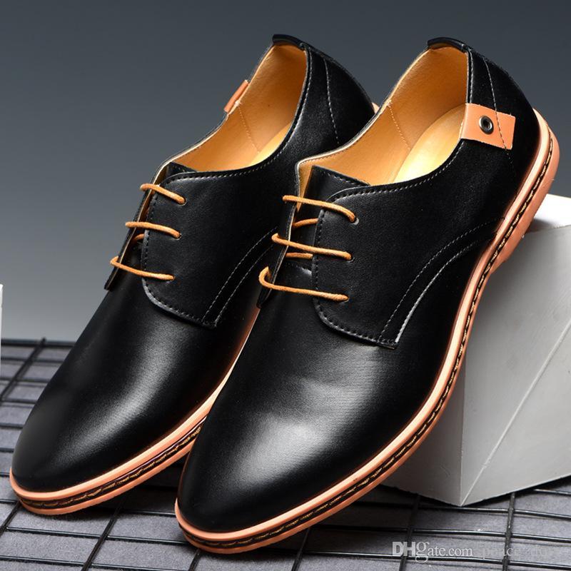 chaussures en cuir formel pour les hommes robe marron chaussures classiques hommes chaussures casual hommes mode oxford hombre sapato sociale masculino COURO 2019