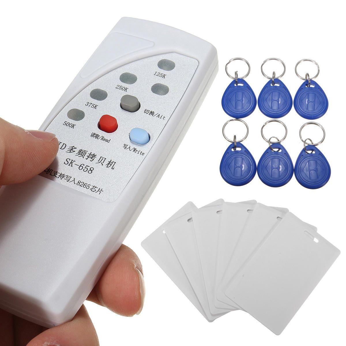 Daniu SK-658 13 Pezzi 125KHz RFID ID Card Reader Writer Copier duplicatore con 6 CardsTags Kit