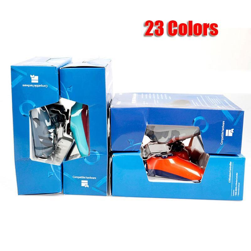 Controlador inalámbrico Bluetooth para PS4 Vibración Joystick Gamepad del regulador del juego para Sony Play Station con Box 23 colores DHL