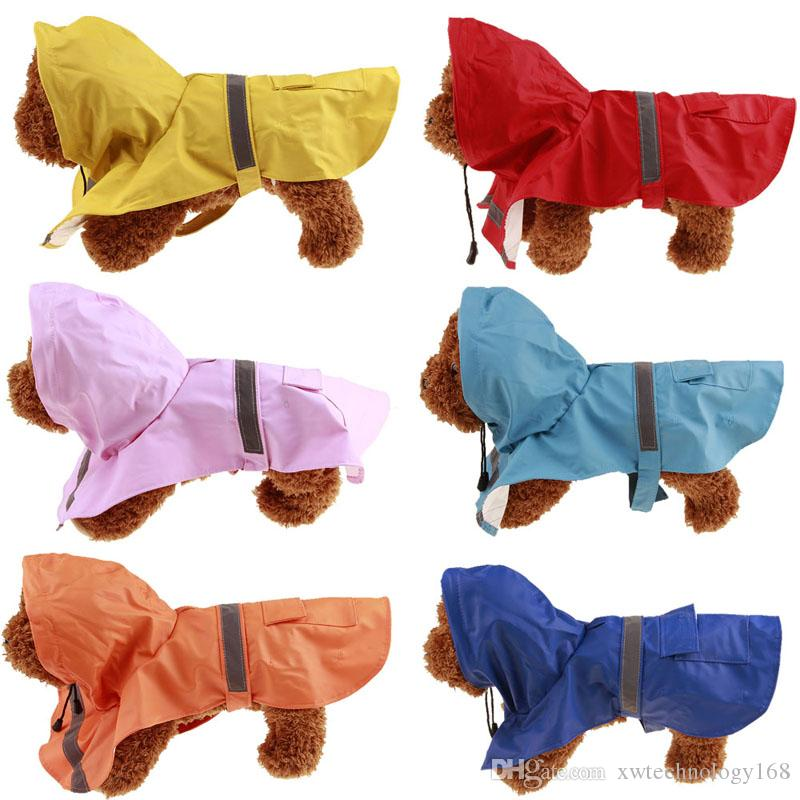 1PCS Fashion New PU Pet Dog Raincoat For Small Medium Large Dog Rain Jacket Raincoats Vest Dog CLoth