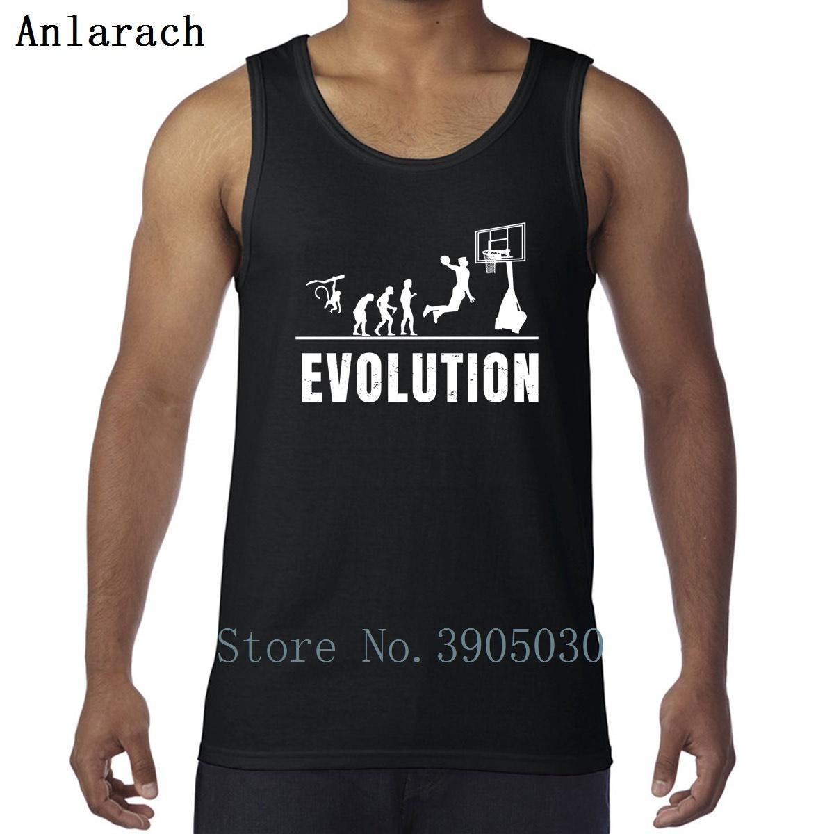 Pallacanestro Evolution Vest maschile Undershirt Crea girocollo Canotta For Men costruzione Lettera Sunlight Anlarach Carino