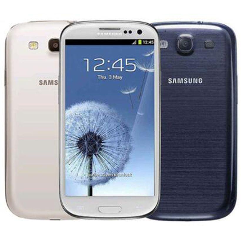 I9300 الأصل سامسونج غالاكسي S3 تجديد الجيل الثالث 3G WCDMA I9305 4G LTE 4.8 بوصة شاشة رباعية النواة 1.4GHz مقفلة رخيصة الهاتف الخليوي DHL الشحن 5pcs