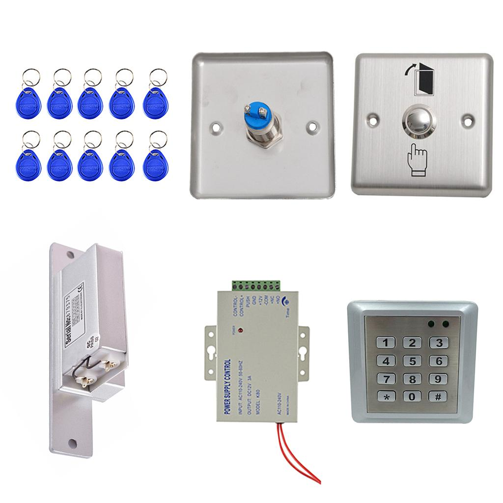 DIY Carte complète Rfid porte de contrôle d'accès Kit avec gâche électrique Lock Home
