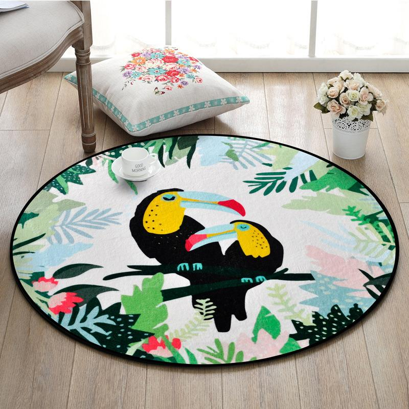 Sala de dibujos animados Animales impreso alrededor Alfombras Niños poliéster alfombra del piso para el dormitorio la tienda del juego manta de área y alfombras para sala de estar