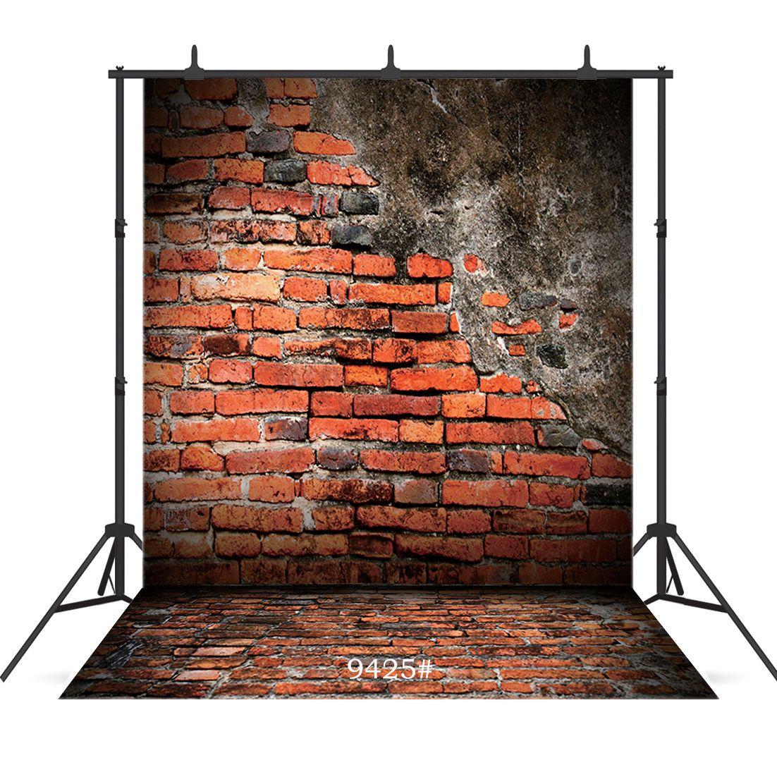 Виниловые портретной фотография фон старинного гранж кирпичной стена пол для душа ребенка новорожденных дети портрета фон фотосессия студии