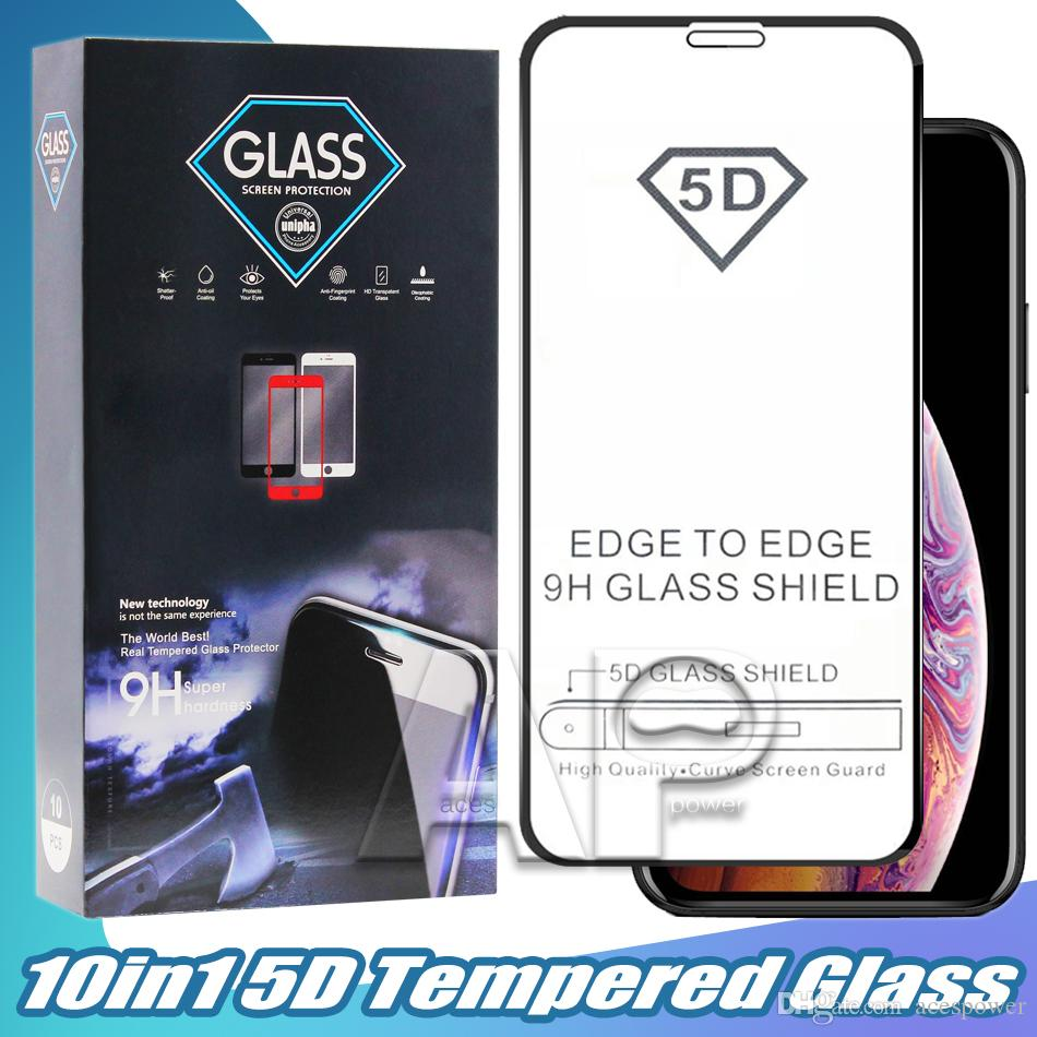 Full Cover Tempered Glass For Iphone 12 Mini 11 Pro Max XR XS MAX X 8 7 6s Plus Full Glue