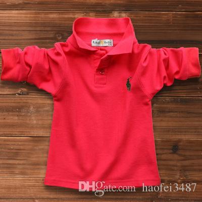 Neue 2019 Kinder T-Shirts Großhandel Jungen Mädchen Freizeit Kurzarm Polo Kinder T-Shirt Kinder T-Shirts 16 Farben Freies Verschiffen