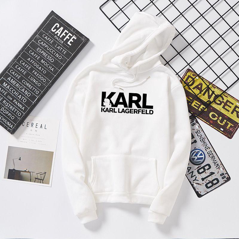 Designer Karl Shirt Lagerfeld Sweats à capuche Femme Vogue Sweatshirt Marque Parfums Designer Pullovers Tumblr Jumper Lady Vêtements occasionnels