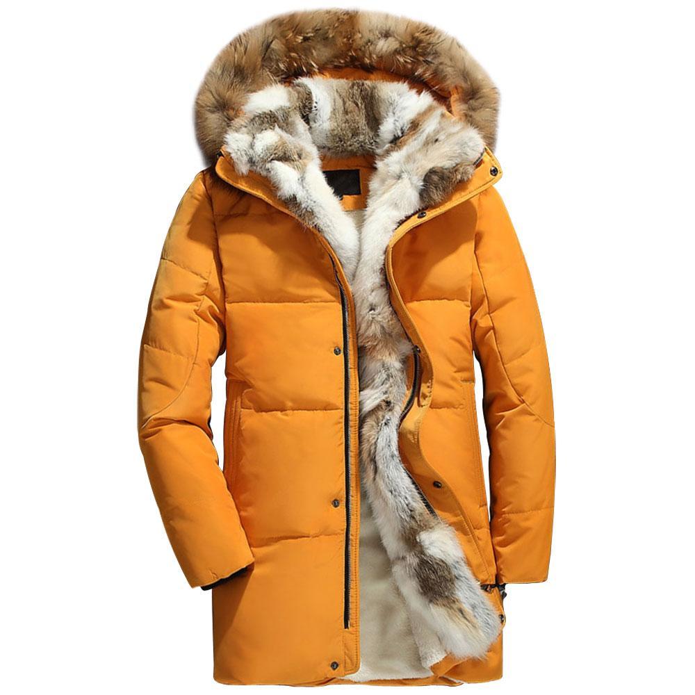Großhandel 2018 Winter Daunenmantel Männer Dicken Pelz Liner Warme Herren Daunenjacken S 5XL Größe Winter Mann Mit Kapuze Parka Wellensteyn Schnee