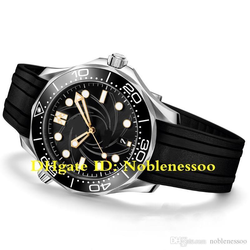 Nuevo Modelo caliente automático para hombre de James Bond 007 Negro esfera de 300 mm 210.22.42.20.01.003 Relojes de reloj de los hombres