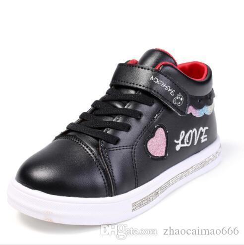 Yeni en çok satan marka çocuk spor ayakkabı kızın bahar ve sonbahar küçük beyaz Ayakkabı Kore versiyonu Zhongda çocuk'