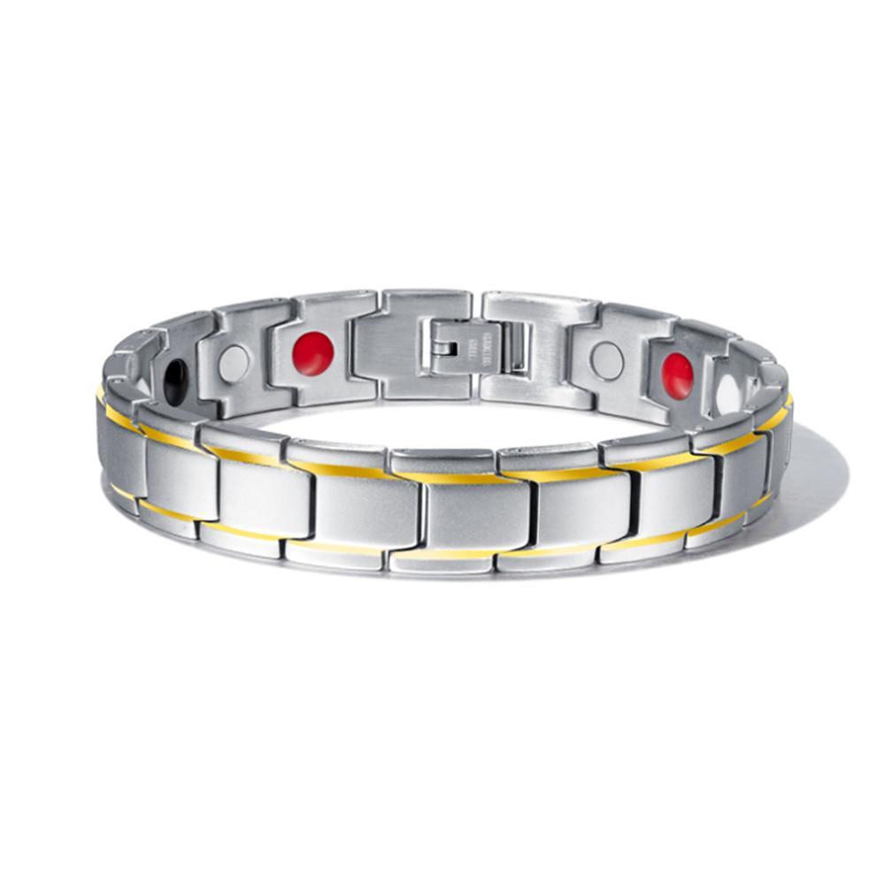 Herren Armbänder magnetische Hämatit-Kupfer-Armband mit Haken Schnalle Haken Bangles Mann Pflege &