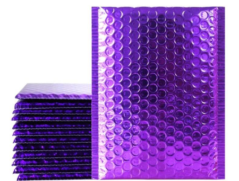 Purple Poly Bubble Mailers Padded Envelopes Self Seal Mailing Envelopes Bags Pack 50pcs 18*23cm Packing Bags