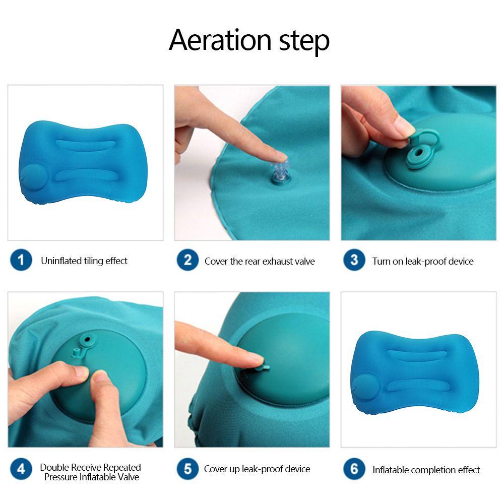 Офис Ultralight Надувная подушка ПВХ нейлон воздушной подушке Портативный поясничной опоры Подушка для путешествий Neck Pillow Поддержка подголовника