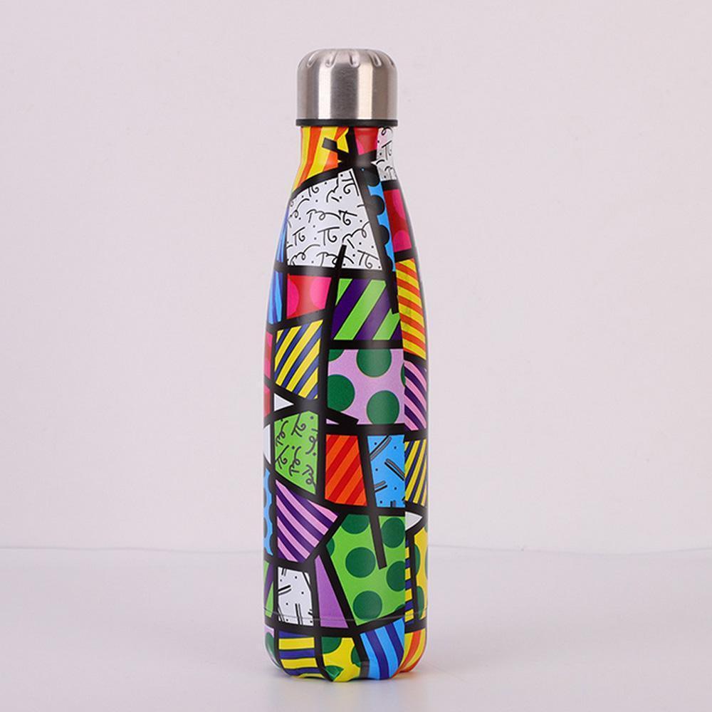 Vácuo de aço inoxidável garrafa isolados Água Flask térmica Sports Chilly 500ML 5 Designs Escalada Auto-passeio de carro