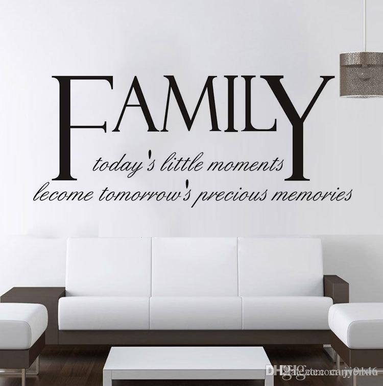 high quality family quotes wall decals vinyl self adhesive letters
