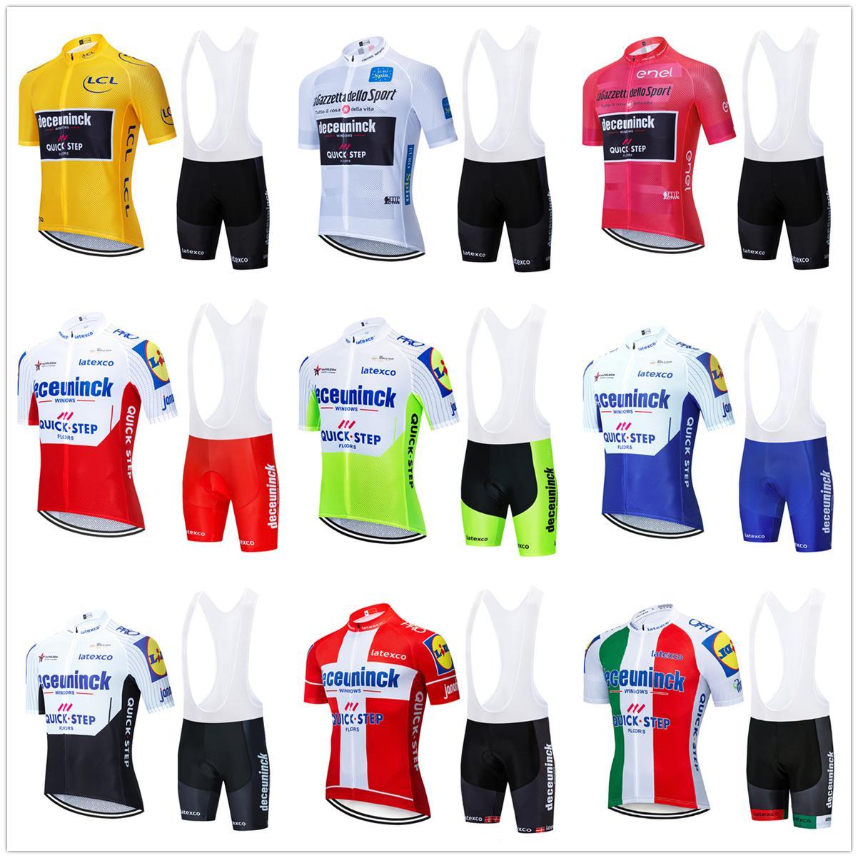 Cyclisme maillot 2020 équipe Pro Quick Step CYCLISME vêtements d'été respirant Short VTT bib jersey vélo kit Ropa Ciclismo