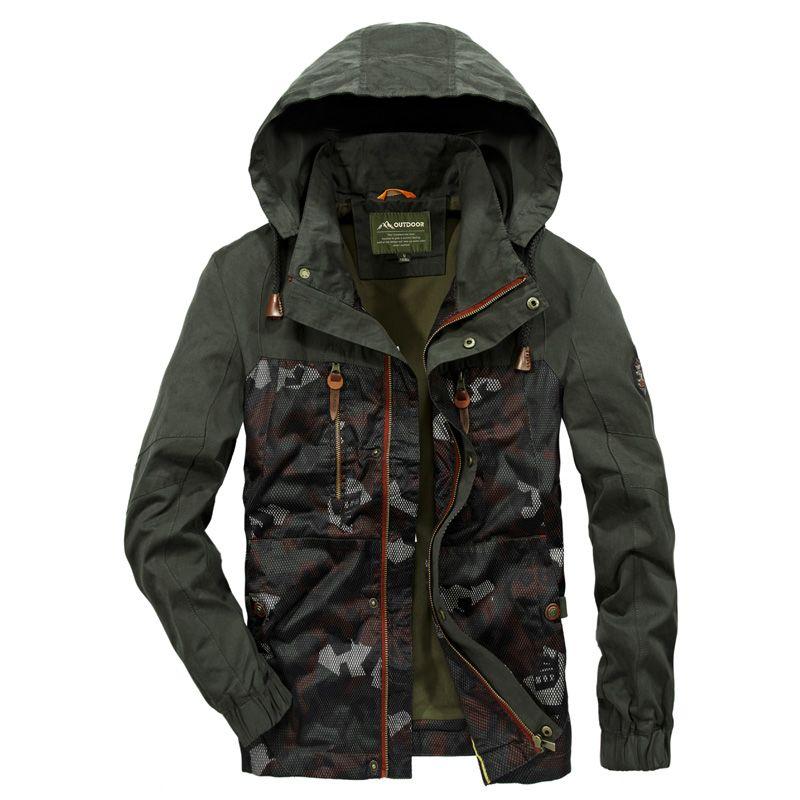 Kamuflaj Parkas Erkek Askeri Orta uzun Kış Ceket Kalınlaşma sıcak Pamuk-yastıklı Ceket Erkek Kürk yaka Kapşonlu wadded