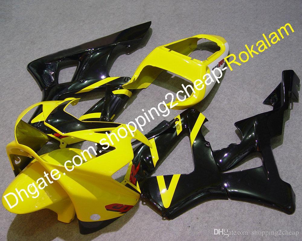 CBR900RR 2000 2001 Carenado de motocicleta para Honda 929 CBR929RR 00 01 CBR 929RR 900RR Kit de cubierta negra amarilla (moldeo por inyección)