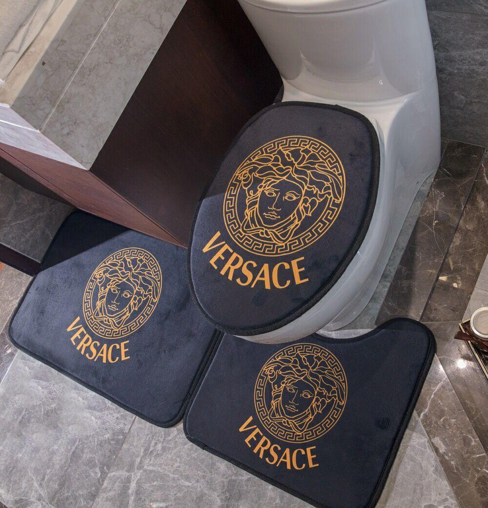 V tapete Tapetes jogos de banho de ouro preto Sala Área tapetes de carpete tapete de luxo venda toliet tapetes de porta quentes de moda decoração de casa