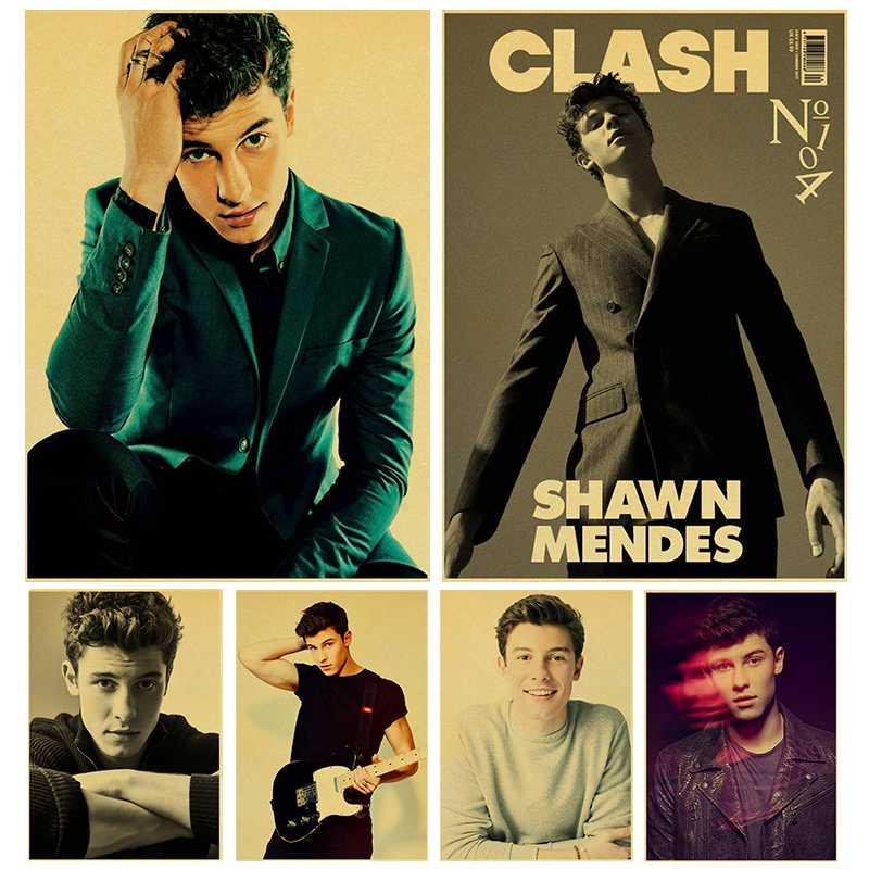 Singer Shawn Mendes Poster high quality kraft paper print painting retro poster home decor wall art wall sticker